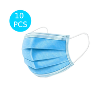 Disposable 3 Layers Filtration Face Mask (Pack of 10) image