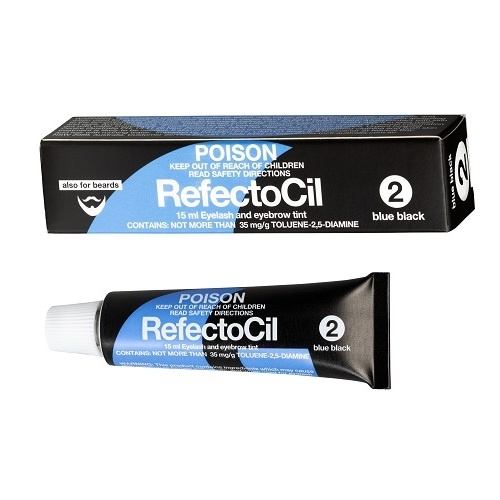 RefectoCil - Eyelash and Eyebrow Tint # 2 Blue Black - 15ML Tube